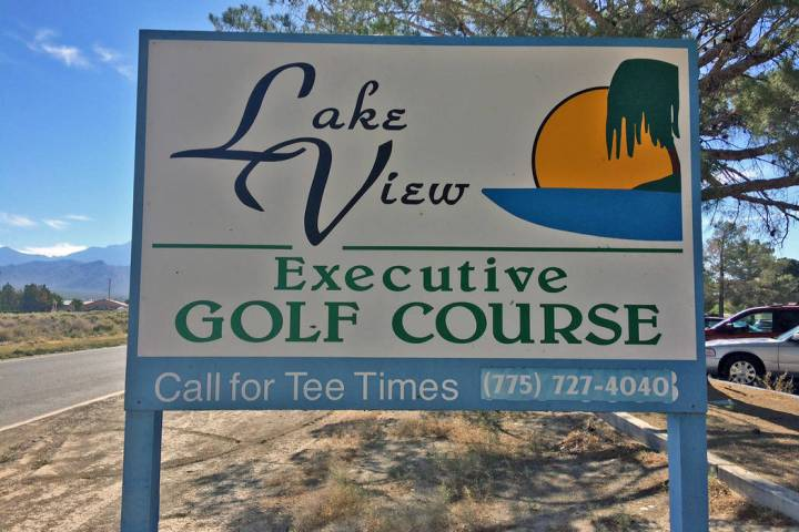 Robin Hebrock/Pahrump Valley Times Lakeview Executive Golf Course, an 18-hole short course owne ...