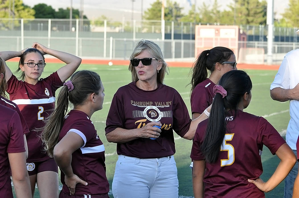 Horace Langford Jr./Pahrump Valley Times Pahrump Valley High School girls soccer coach finds us ...