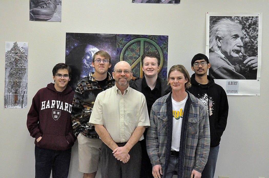 Horace Langford Jr./Pahrump Valley Times Pahrump Valley High School's 2020 Nevada Science Bowl ...
