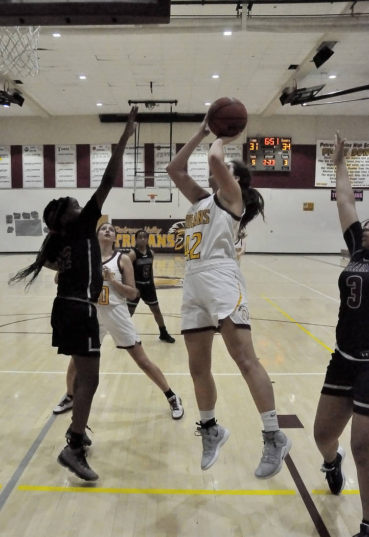 Horace Langford Jr./Pahrump Valley Times Junior Kate Daffer led Pahrump Valley with 23 points a ...