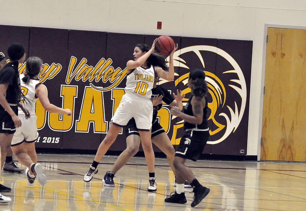 Horace Langford Jr./Pahrump Valley Times Pahrump Valley junior Nicky Velazquez recorded a doubl ...