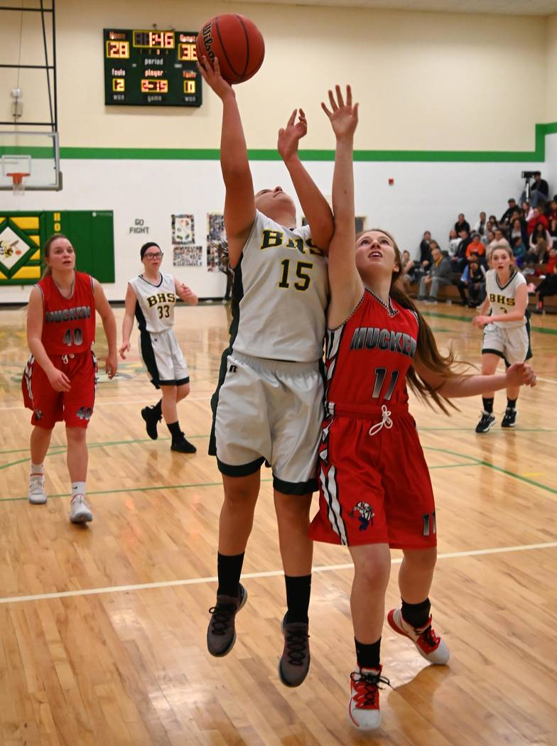 Richard Stephens/Special to the Pahrump Valley Times Beatty's Marlene Damien put up 6 points Tu ...