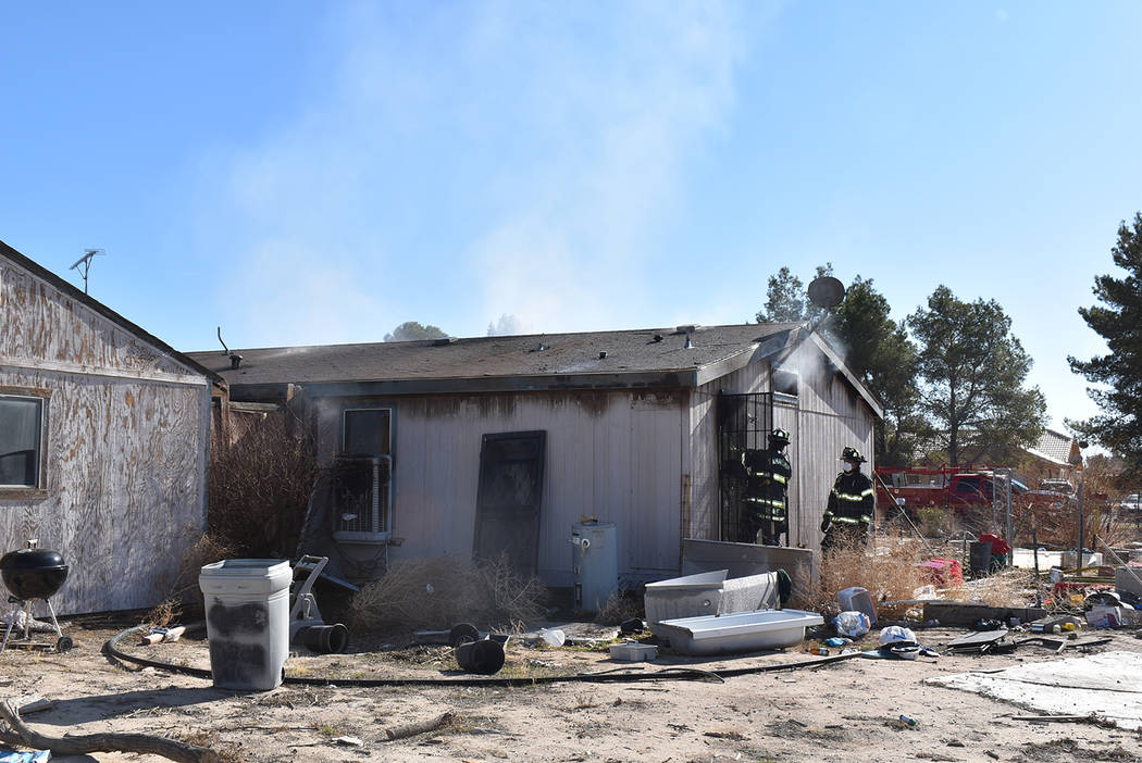 Special to the Pahrump Valley Times The stubborn Morgan Lane fire was controlled in under two h ...