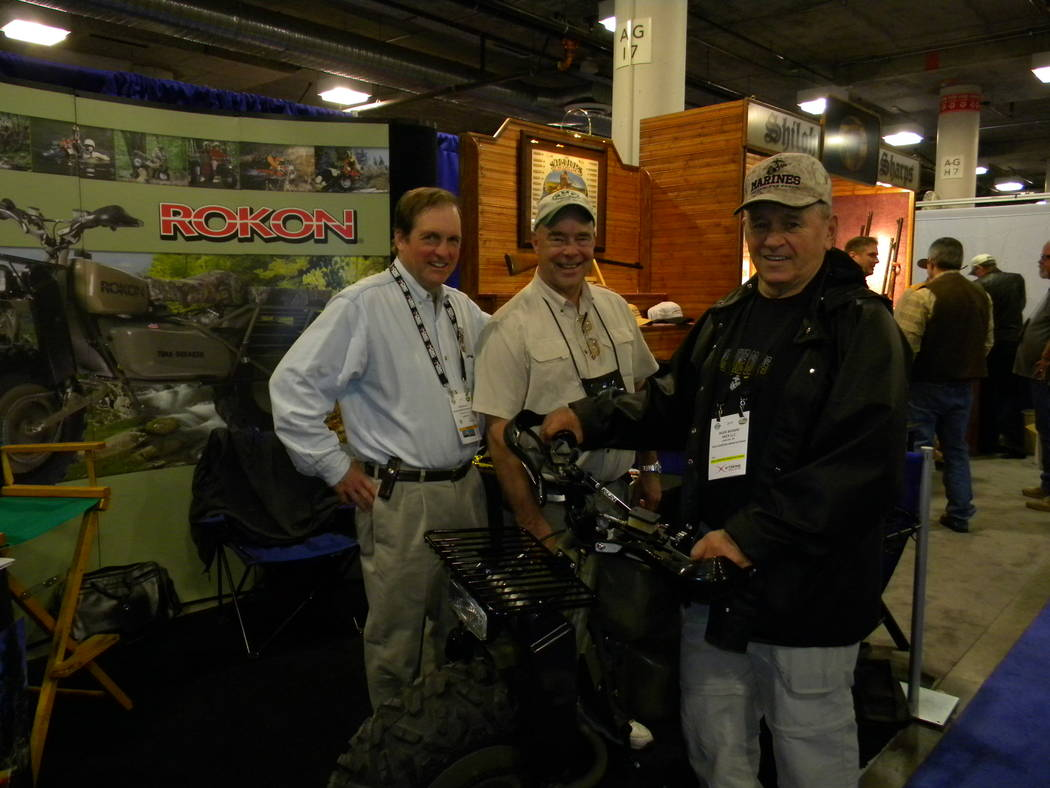 Dan Simmons/Special to the Pahrump Valley Times Left to right, Tom Blasi, Ron Cross and Gen. Bu ...