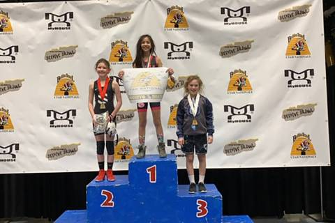 Special to the Pahrump Valley Times Mika Yoffee of Pahrump, competing for SLAM Wrestling Club o ...