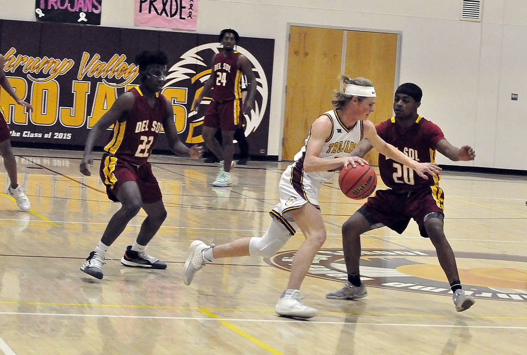Horace Langford Jr./Pahrump Valley Times Pahrump Valley High School senior guard Grant Odegard ...