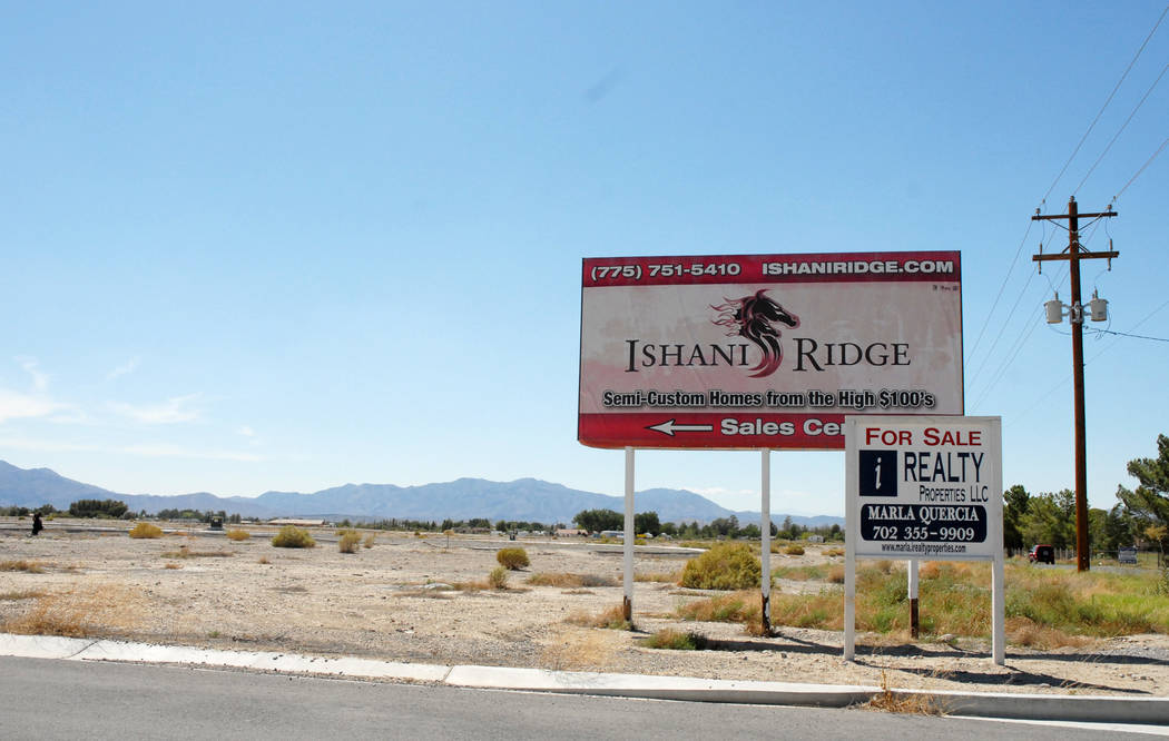 Horace Langford Jr./ Special to Pahrump Valley Times - Sign for Ishani Ridge in 2014.