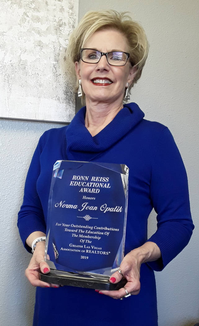 Selwyn Harris/Pahrump Valley Times Pahrump Realtor Norma Jean Opatik of Realty Executives in Pa ...