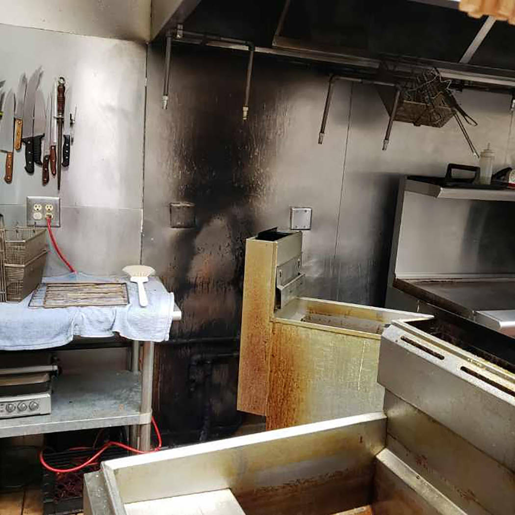 Special to the Pahrump Valley Times The Pahrump Moose Lodge at 1100 2nd Street had a fire on Fe ...