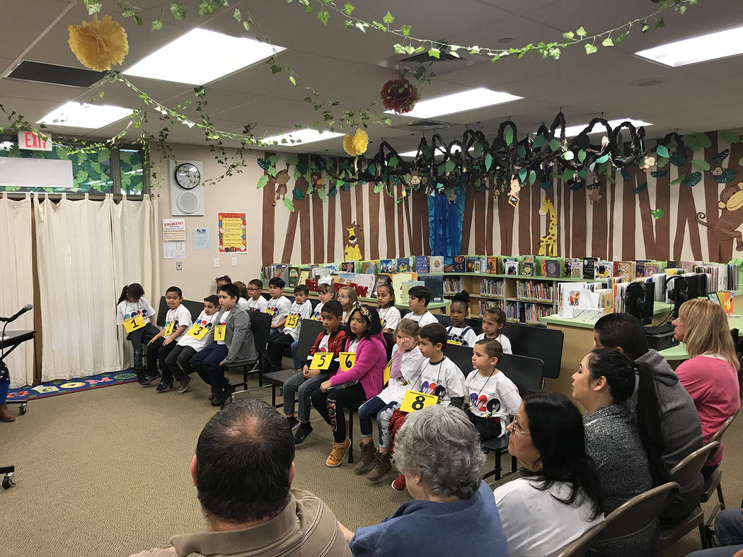 Robin Hebrock/Pahrump Valley Times This photo shows the group of kindergarten through second gr ...