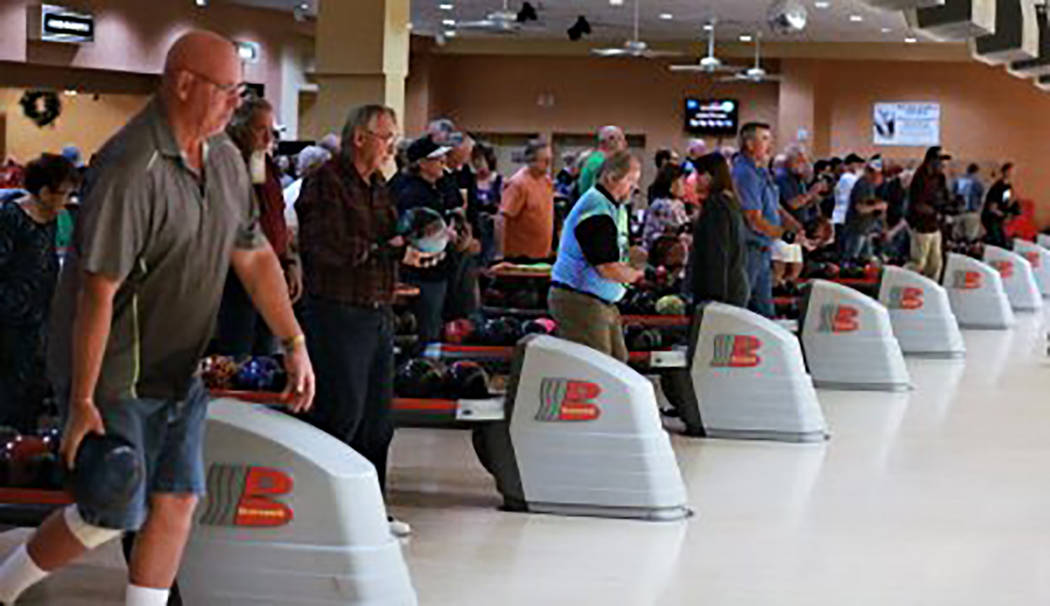 """Randy Gulley/Special to the Pahrump Valley Times """"Bowling for Heroes"""" drew more than 300 people ..."""