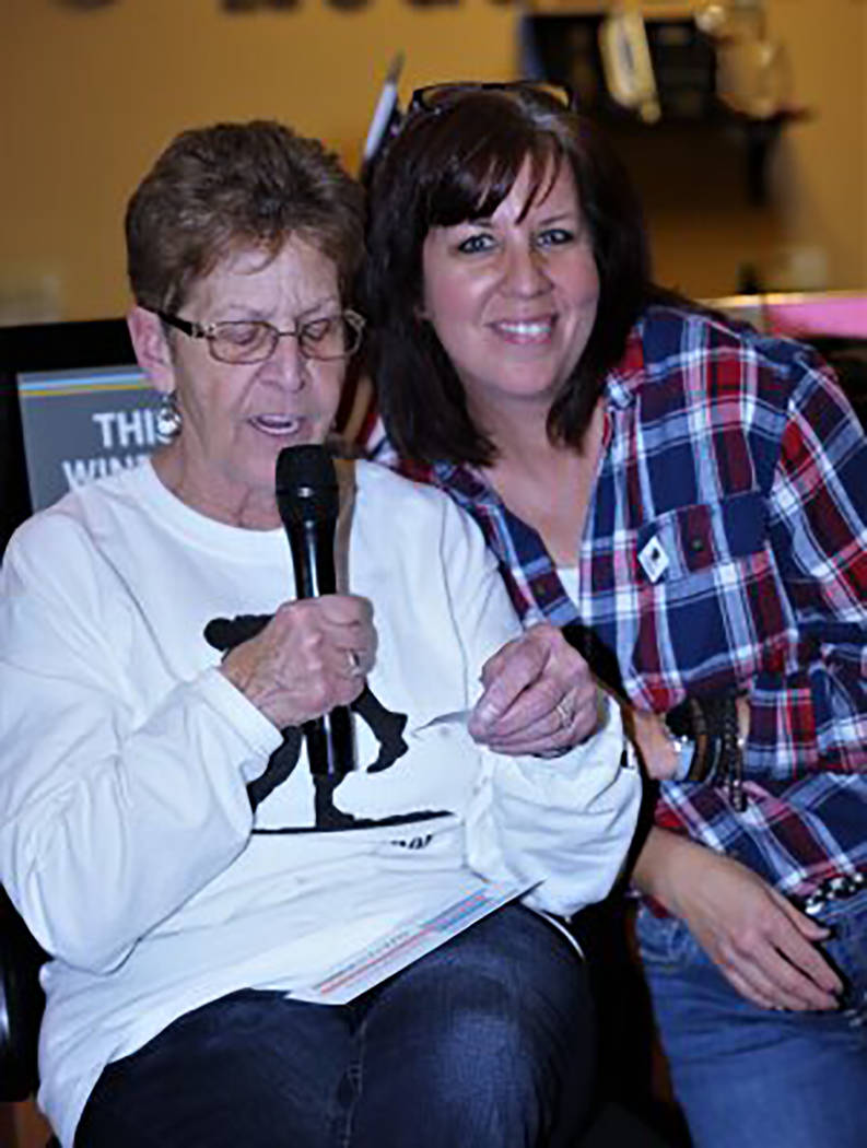 Randy Gulley/Special to the Pahrump Valley Times Denise Flanagan, left, and Denise Koch call ou ...