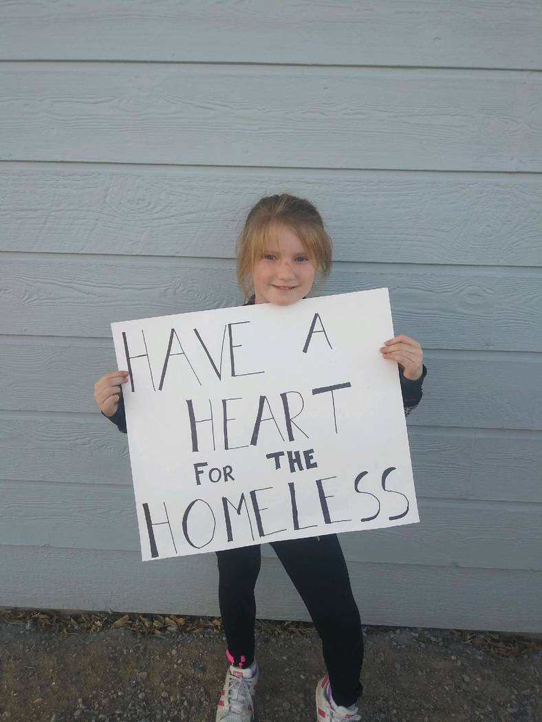 Kayla Noyes/Special to the Pahrump Valley Times Ashlin Banning, just 8 years old, is trying her ...
