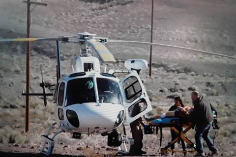 Special to the Pahrump Valley Times One hiker who sustained injuries after a fall was evacuated ...