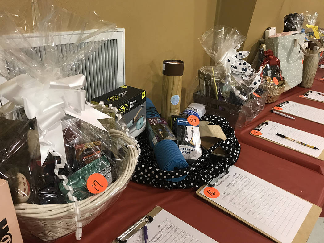 Robin Hebrock/Pahrump Valley Times Crab Fest also included a variety of raffle prizes, silent a ...