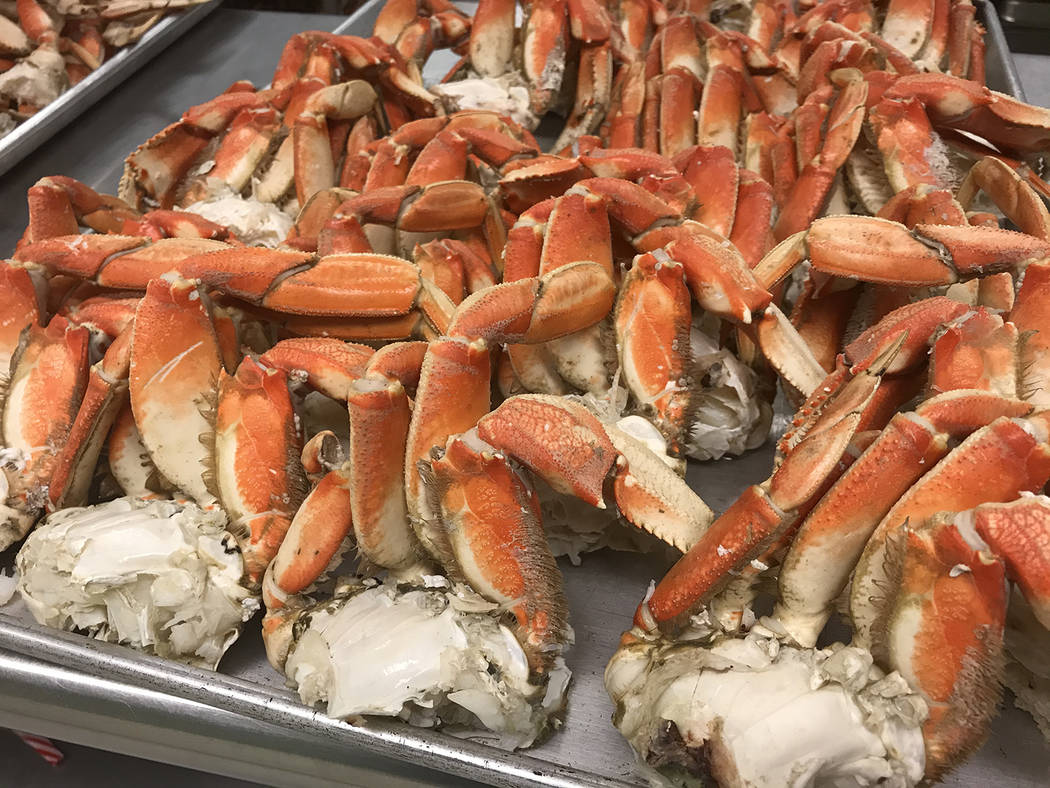 Robin Hebrock/Pahrump Valley Times Several hundred pounds of Dungeness Crab was flown in fresh ...