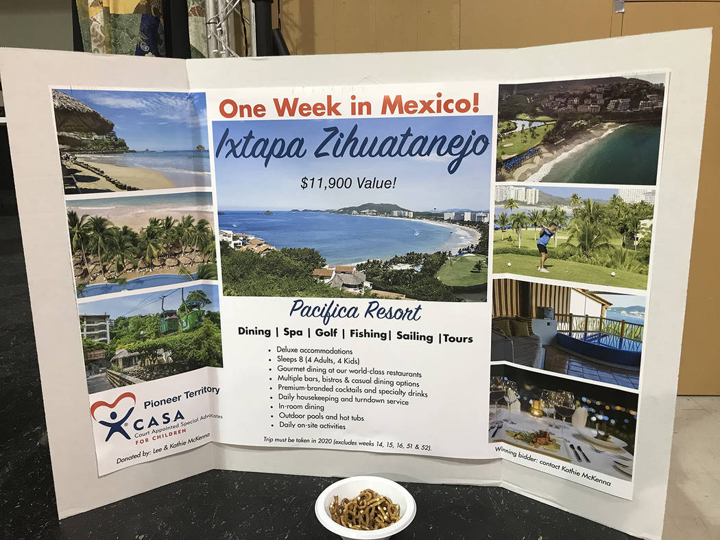 Robin Hebrock/Pahrump Valley Times A one-week trip to the Pacifica Resort in Mexico was the big ...