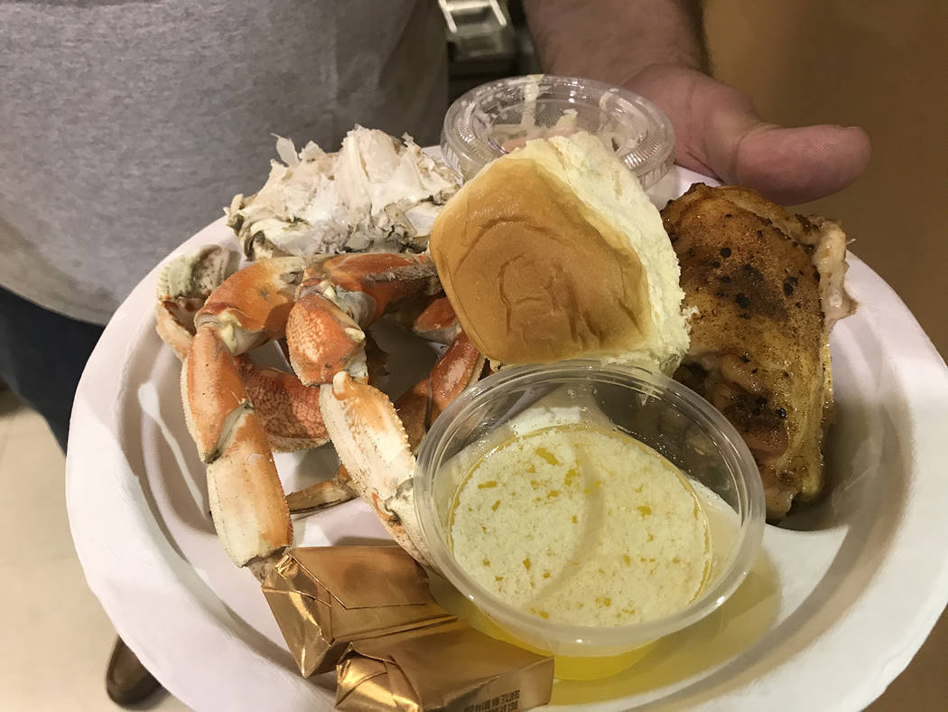 Robin Hebrock/Pahrump Valley Times Crab Fest-goers were able to feast on succulent crab, delici ...