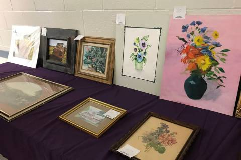 Robin Hebrock/Pahrump Valley Times The Pahrump Arts Council hosted an Art Sale fundraiser on Fe ...