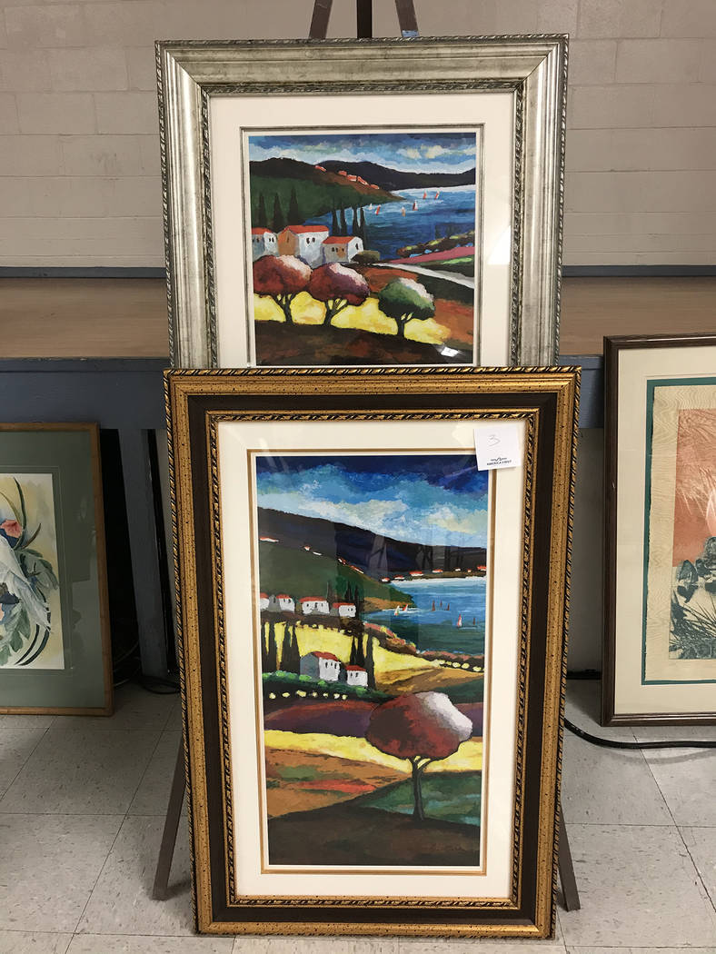 Robin Hebrock/Pahrump Valley Times In addition to artwork for sale, the Pahrump Arts Council's ...