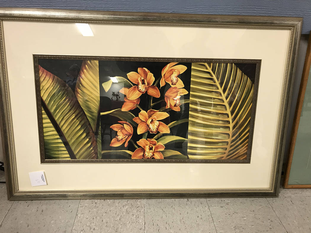 Robin Hebrock/Pahrump Valley Times This large masterpiece was one of several live auction items ...
