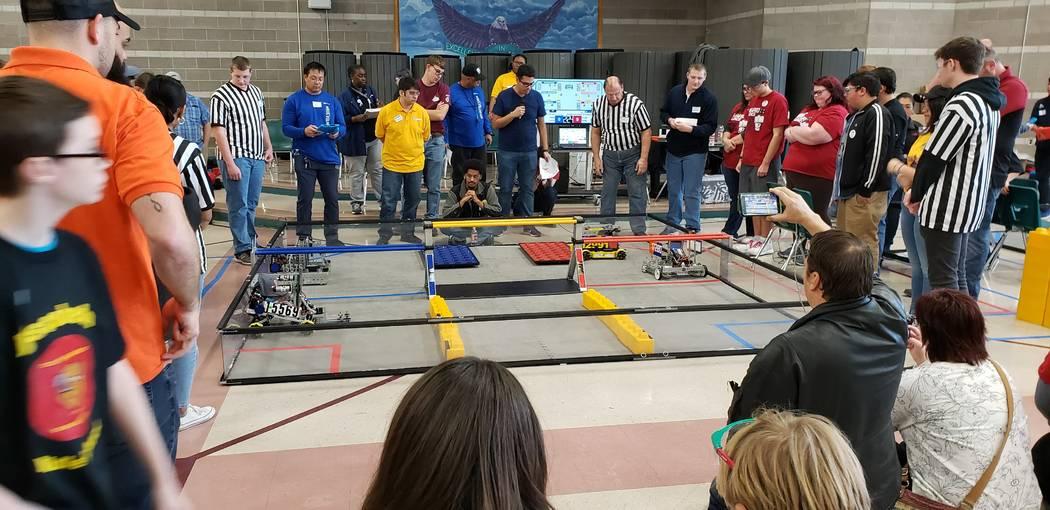 Pahrump Southern Nye County 4-H Pahrump robotics team Awkward Silence competes at the Southerrn ...