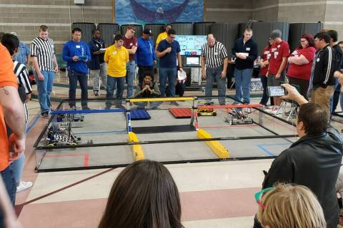 Pahrump Southern Nye County 4-H Pahrump robotics team Awkward Silence competes at the Southerrn ...