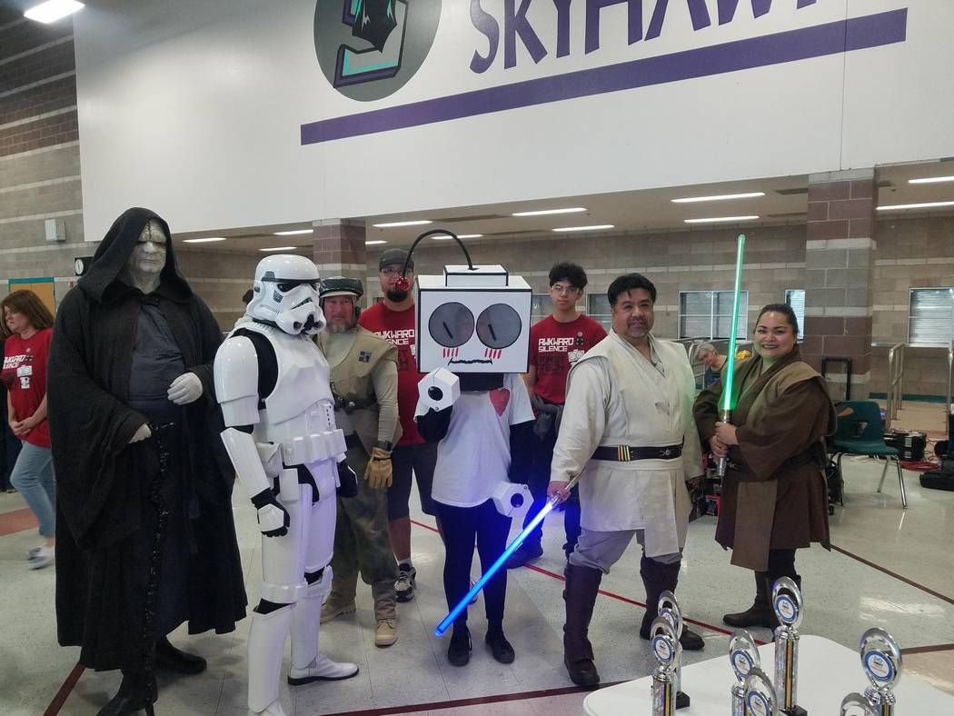 Pahrump Southern Nye County 4-H A cosplay group was in attendance during the Southern FTC Leagu ...