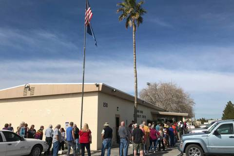 Robin Hebrock/Pahrump Valley Times On Saturday, Feb. 15 the Bob Ruud Community Center was slamm ...