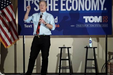 Selwyn Harris/Pahrump Valley Times Democratic Presidential Candidate Tom Steyer made a campaign ...
