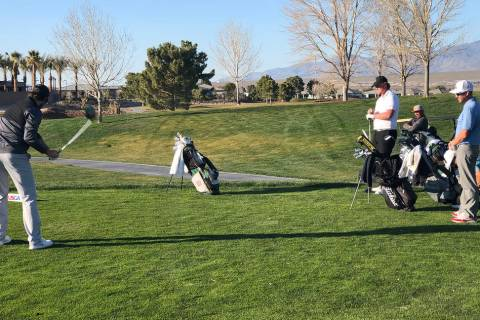 Tom Rysinski/Pahrump Valley Times The pairs of Ryan Faust and Michael McLoughlin and Britton He ...