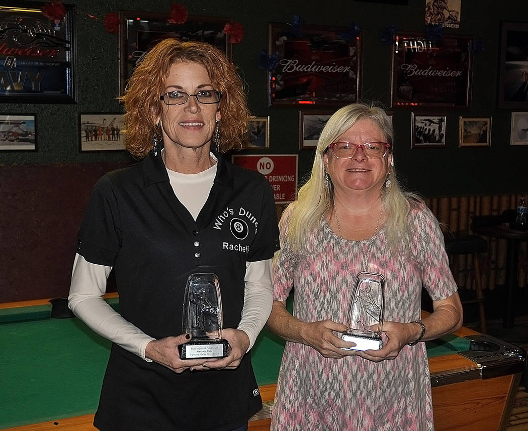 Horace Langford Jr./Pahrump Valley Times Rachelle Ryba, left, and Colleen Fedie pose with their ...