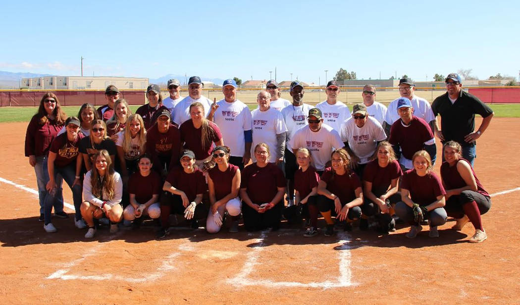 Chuck Hoover/Special to the Pahrump Valley Times Players from the Girls Who Love Softball and t ...