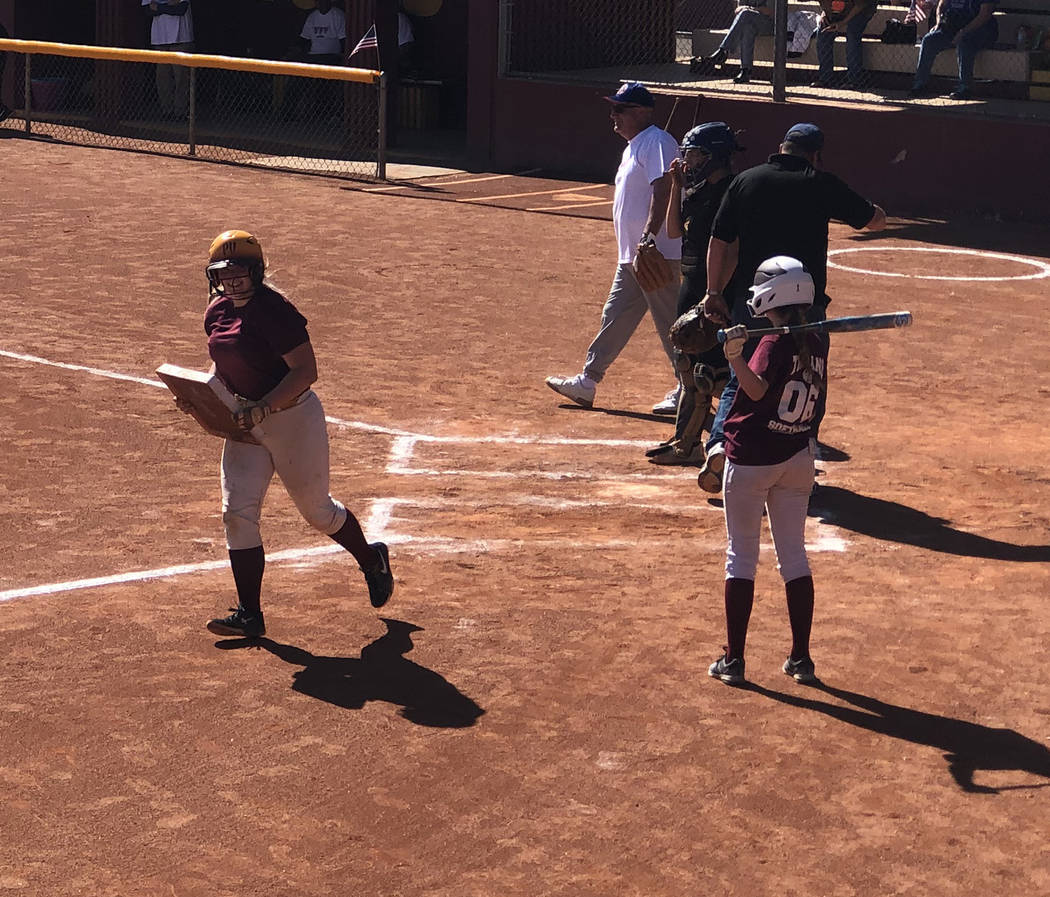 Tom Rysinski/Pahrump Valley Times Stolen base was a literal term Sunday as the Girls Who Love S ...
