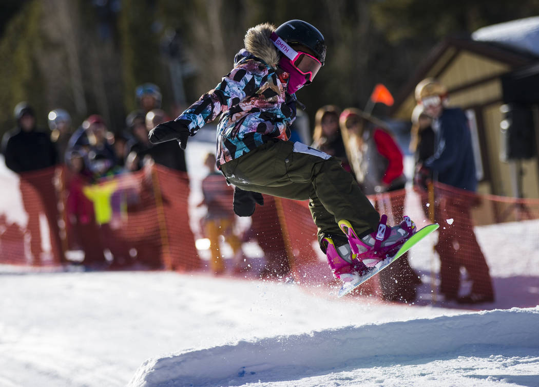 Chase Stevens/Special to the Pahrump Valley Times Aniya Smith, 10, competes in the Lil' Air you ...