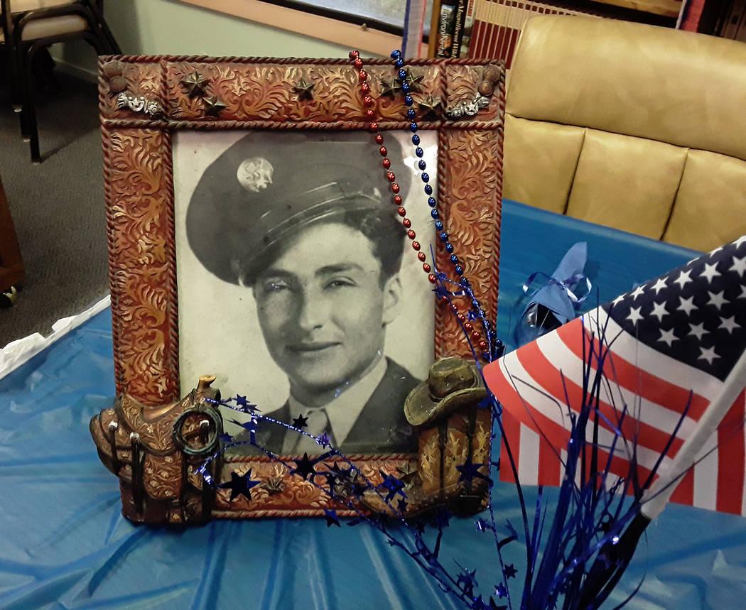 Selwyn Harris/Pahrump Valley Times Trujillo served in five major battles during World War II, w ...