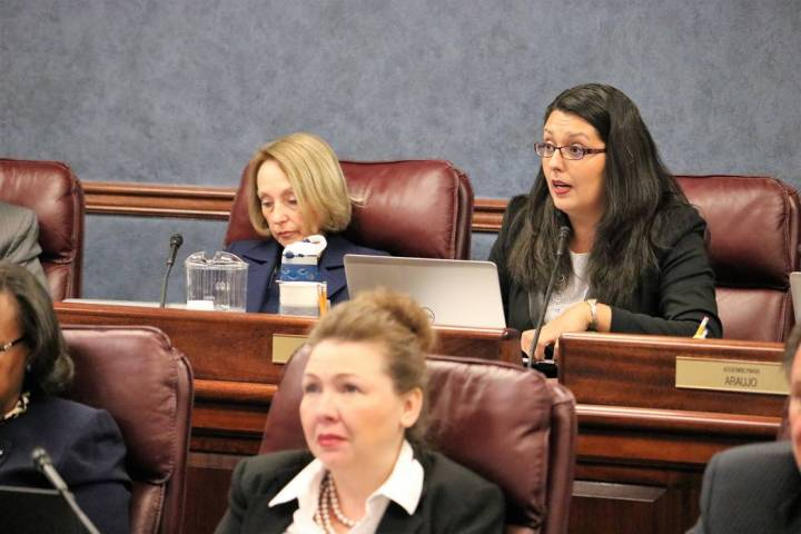 Victor Joecks/Las Vegas Review-Journal Assembly Legislative Operations and Elections chairwoman ...