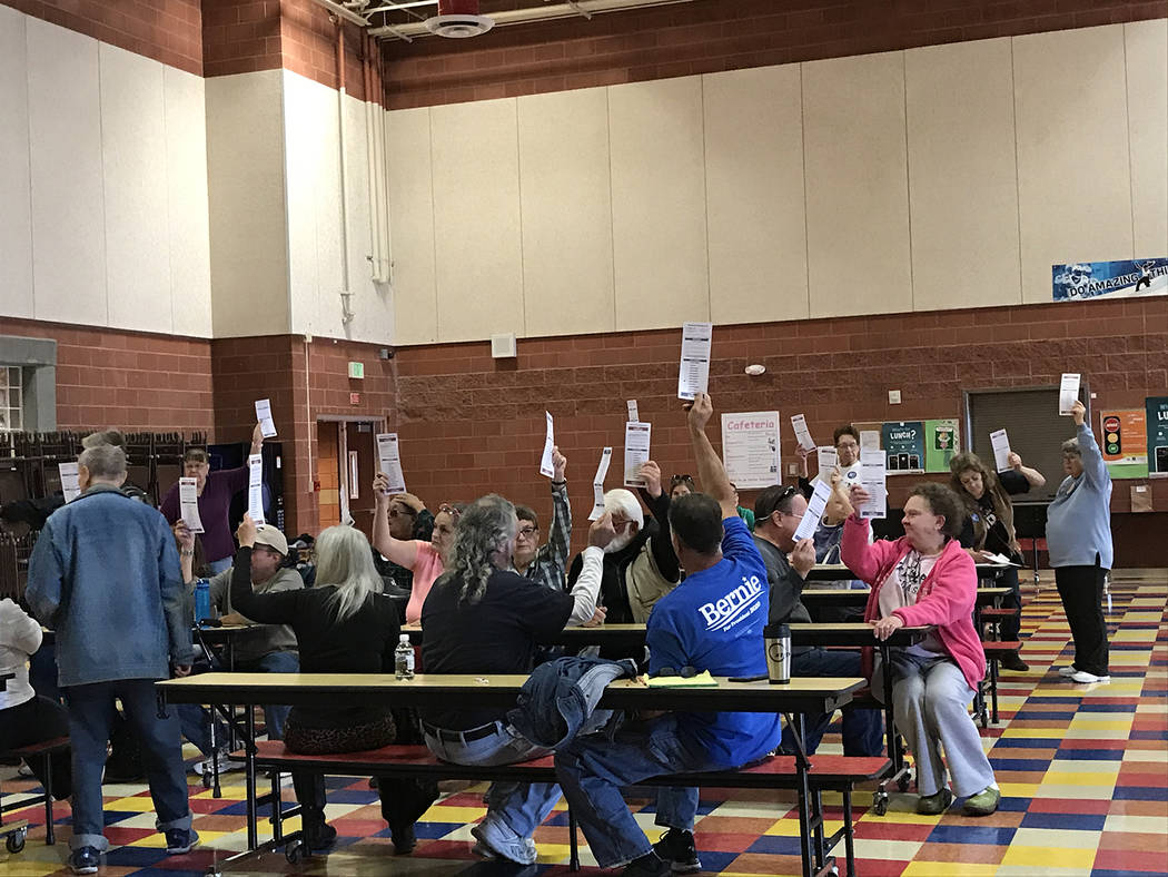 Robin Hebrock/Pahrump Valley Times Voters in Nye County precinct 24 are shown at Hafen Elementa ...