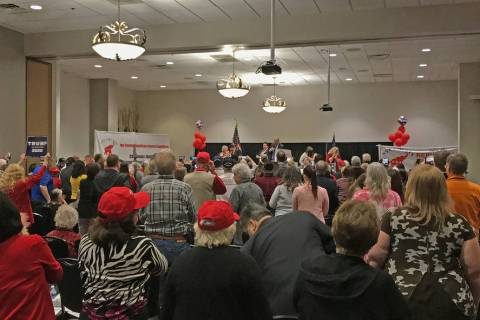 Robin Hebrock/Pahrump Valley Times The Pahrump Nugget Events Center was packed with state GOP m ...