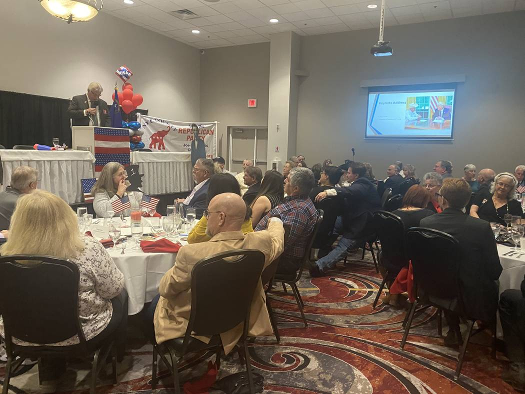 Jeffrey Meehan/Pahrump Valley Times Republicans gathered for the 41st Annual Lincoln Day Dinne ...