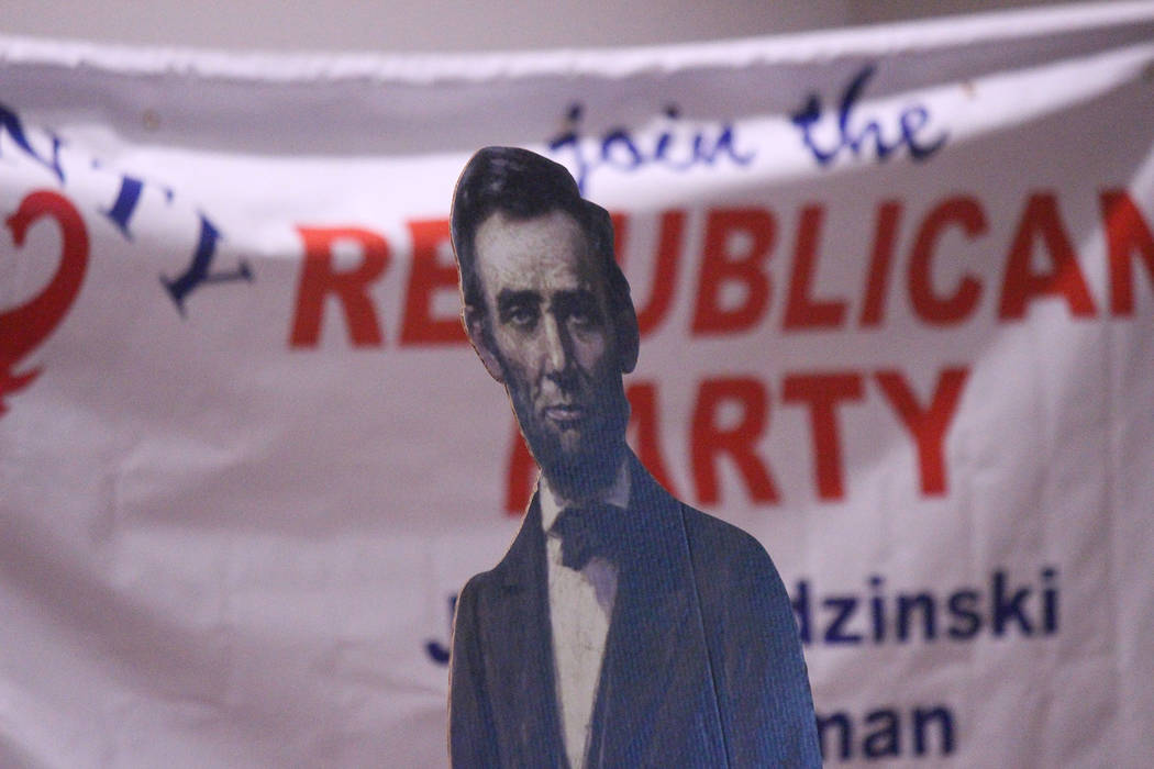 Jeffrey Meehan/Pahrump Valley Times A cardboard cutout of President Abraham Lincoln was part o ...