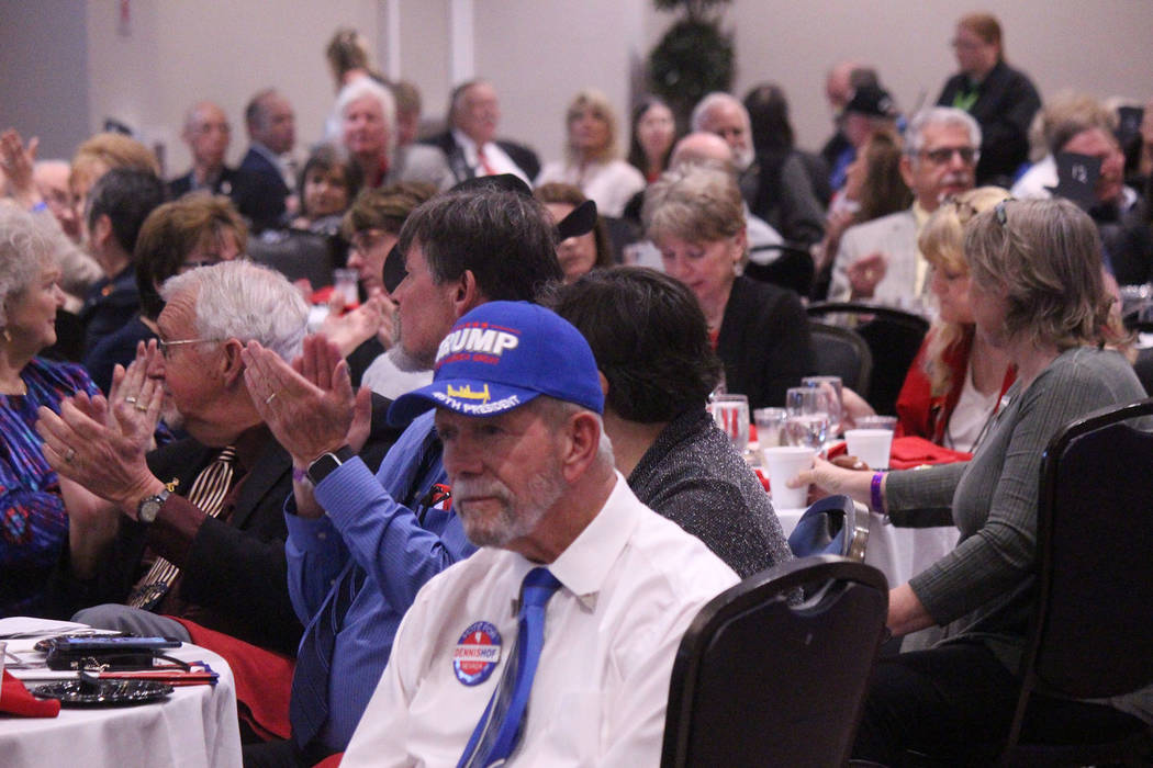 Jeffrey Meehan/Pahrump Valley Times A large turnout for the Lincoln Day Dinner had event organ ...