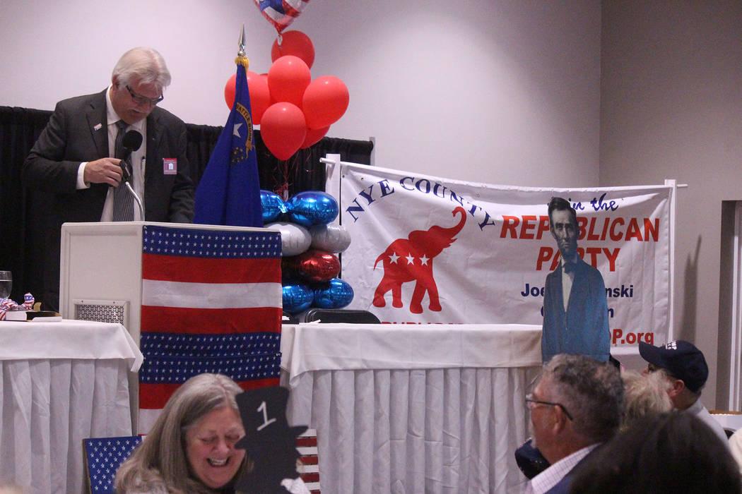 Jeffrey Meehan/Pahrump Valley Times Nye County Republican Central Committee Chairman Joe Burdz ...