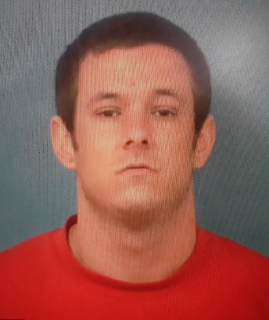 Special to Pahrump Valley Times Pahrump resident Lucas Partain, 24, was taken into custody foll ...