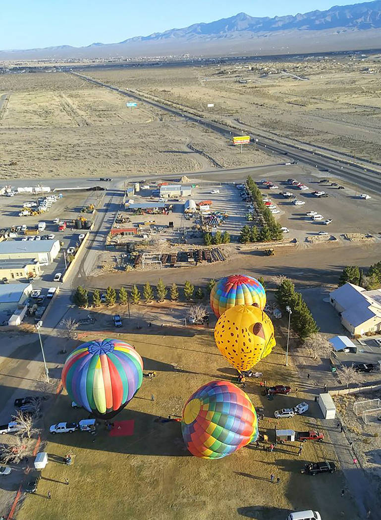 Pahrump Chamber of Commerce Balloonists from around the country traveled to Pahrump to take par ...