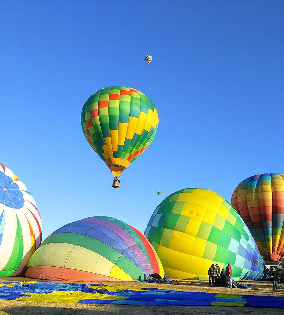 Pahrump Chamber of Commerce Hot air balloon flights normally last 45 minutes to an hour, as the ...