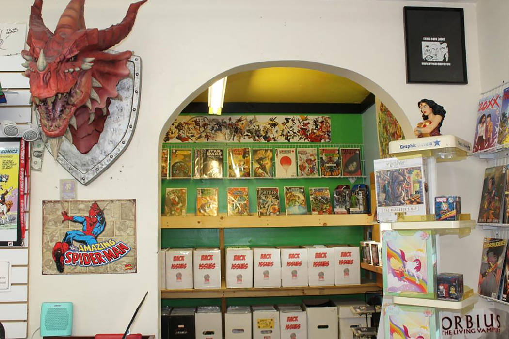 Alyssa Greenway/Special to the Pahrump Valley Times Hypno Comics at 111 S. Frontage Road in Pah ...
