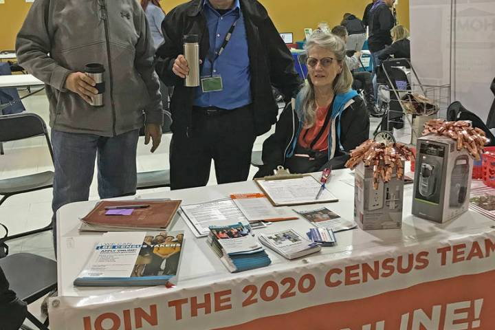 Robin Hebrock/Pahrump Valley Times Employees with the U.S. Census Bureau have been active in th ...