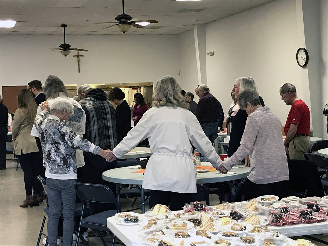 Robin Hebrock/Pahrump Valley Times Attendees of the Nye County Right to Life fundraiser held Fe ...