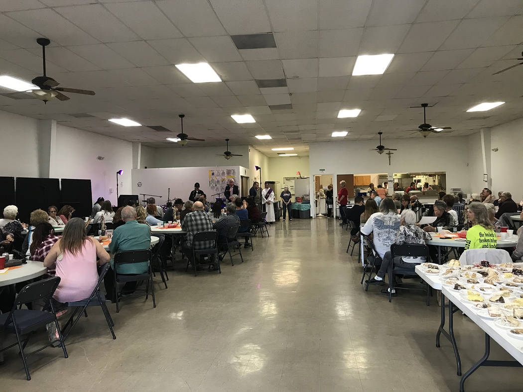 Robin Hebrock/Pahrump Valley Times The events room at Our Lady of the Valley Roman Catholic Chu ...